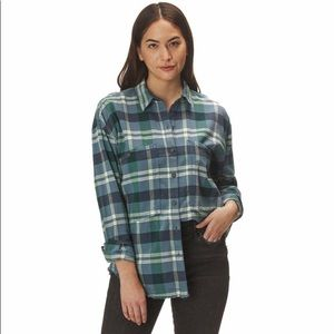 Free People Loveland plaid shirt